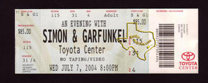 Simon & Garfunkel - Jul 7, 2004 at Toyota Center
