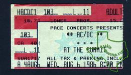 AC/DC - Aug 6, 1986 at The Summit