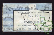 AC/DC - Oct 30, 1983 at The Summit