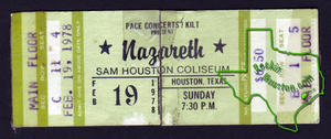 Nazareth - Feb 19, 1978 at Sam Houston Coliseum