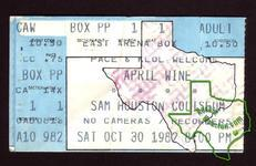 April Wine - Oct 30, 1982 at Sam Houston Coliseum