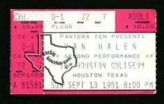 Van Halen - Sep 13, 1981 at Sam Houston Coliseum