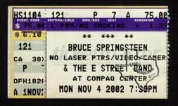 Bruce Springsteen - Nov 4, 2002 at The Compaq Center, Houston, Texas