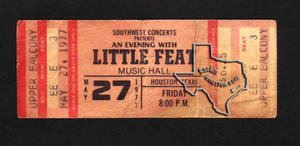 Little Feat - May 27, 1977 at Houston Music Hall